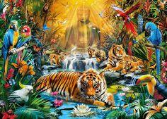 Clementoni Puzzle 1000 Teile Geheimnisvolle Tiger (39380) in Spielzeug, Puzzles & Geduldspiele, Puzzles | eBay! | http://nextpuzzle.de/detailview/puzzle-geheimnisvolle-tiger/211