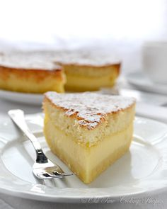 Magic Cake The magic is in the fact that you make only one batter and, after baking, you get a cake with 3 distinct layers: dense one on the bottom, custard-like layer in the middle, and a sponge layer on top. » Have you tried this before?