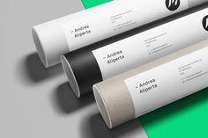 Andrea Aliperta - Brand Identity by Federico Landini http://mindsparklemag.com/design/andrea-aliperta-brand-identity/