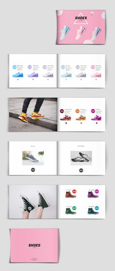 This modern product catalog template can be used for anything, from shoes to clothes or accessories. Colors can be easily changed for getting an entirely new look, more suitable for your needs and brand. Just add your photos, all text and colors are editable.     #catalog #brochure #template #brochuretemplate #brochuredesign#layout #layoutdesign #indesign#templates #catalogtemplate #cataloglayout #flipsnack #catalogdesign #productcatalog #shoecatalog Catalogue Design Templates, Product Catalog Template, Catalogue Layout, Booklet Design, Product Catalog Design, Product Design, Layout Product, Product Catalogue, Brochure Layout