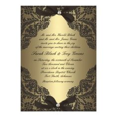 See MoreGold and Black Lace wedding invitationWe provide you all shopping site and all informations in our go to store link. You will see low prices on