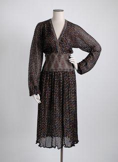 1970s Missoni black knit lurex dress, large * hemlockvintage.com