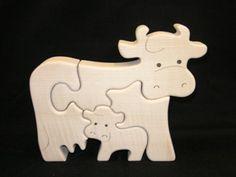 puzzle vaches en bois