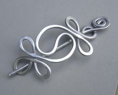Shawl Pin / Hair Pin / Scarf Pin - Aluminum Wire - Yin Yang Harmony. $22.00, via Etsy.