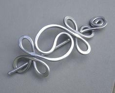 Shawl Pin / Hair Pin / Scarf Pin - Aluminum Wire - Yin Yang Harmony. $22.00, via Etsy.