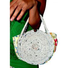 Bolso de papel reciclado 32.50€ Straw Bag, Bags, Fashion, Paper Bags, Paper Envelopes, Sustainable Fashion, Upcycling, Fabrics, Women