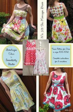 """Kleid """"Monique"""", chic im Retro-Stil,  Gr XXS-XXL von einfach: Selbernähen auf DaWanda.com"""
