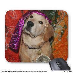Golden Retriever Fortune Teller Mouse Pad