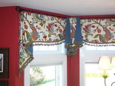 3 piece custom window treatment rod/ring mounted.. Nice! |Pinned from PinTo for iPad|