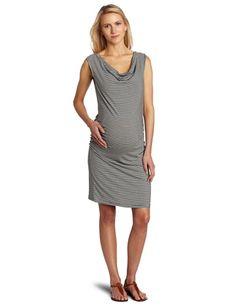 Amazon.com: Three Seasons Maternity Women's Maternity Cowlneck Side Rouche Stripe Dress: Clothing