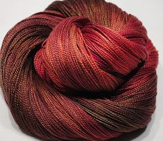 Hand Dyed Mulberry Silk Lace weight  Raspberry  by BalDesFleurs, £8.20
