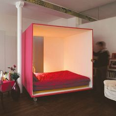 I don't think this would be too hard to make. Great bed for a teen room and easy to rearrange.