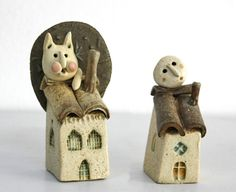 """Casette con luna / Small houses with moon"" by La Bottega delle Stelle®"