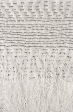 Alabama Chanin, embroidery experiments on knit Could you then set embroidery /knit in plaster? Or polyfiller ?