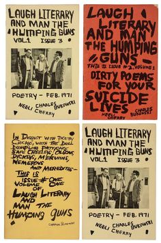 """Laugh Literary and Man the Humping Guns"" fanzines by Charles Bukowski"