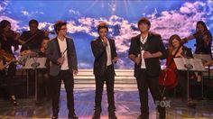 """true HD ~ IL VOLO (The Flight) """"O Sole Mio"""" ~ American Idol 2011 Top 3 . 16 yr. old boys."""