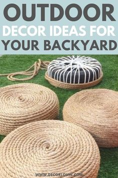 DIY Outdoor Decor To Spruce Up Your Backyard. Quick and easy DIY outdoor decor ideas to spruce up your yard. Get your yard ready for summer with these DIY outdoor decor ideas. These DIY projects will revamp your backyard and leave your neighbors jealous. Diy Outdoor Furniture, Garden Furniture, Outdoor Garden Decor, Diy Patio Furniture Cheap, Outdoor Gardens, Furniture Design, Teak Furniture, Furniture Refinishing, Rustic Outdoor