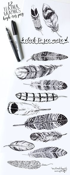 BOHO RUSTIC FEATHERS - Illustrations - 1