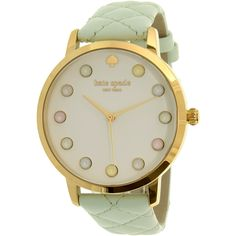 Kate Spade Women's Gramercy KSW1096 Green Leather Quartz Watch for Sale