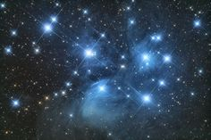 Pleiades, which is also called as The Seven Sisters is a deep-sky object known by humanity since the ancient times. Many civilizations have associated their favourite mythological characters with it.