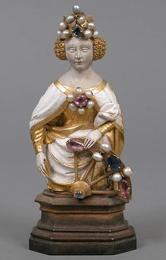 Saint Catherine of Alexandria -- Early 15th Century -- French -- Gold…