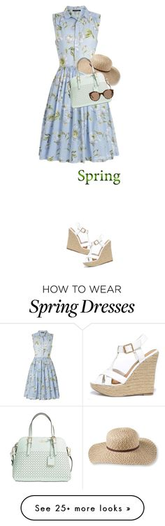 """""""Spring dress"""" by maria-maldonado on Polyvore featuring French Connection, Wild Diva, L.L.Bean, Kate Spade, Illesteva and springdress"""