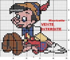 Pinocchio perler beads pattern by Mauricette