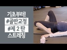 골반교정 허리통증을 위한 스트레칭 #2 - YouTube