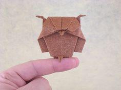 Montes de corujas com seus diagramas #origami #coruja