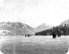 Ice skating on Lake Chelan, Washington, USA - 1900
