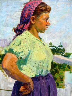 Gerasimov, Sergei Vasilevich  1885 - 1964 Portrait of a woman Oil on board c 70 x 50 in c. 1940 - See more at: http://www.russianartdealer.com/galleries/russian-art#sthash.35YHNcKz.dpuf