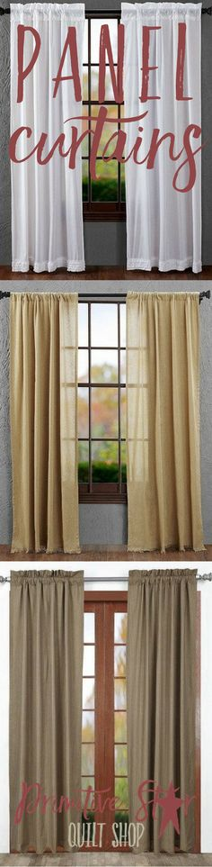 Find the panel curtains that fit the style of your home!