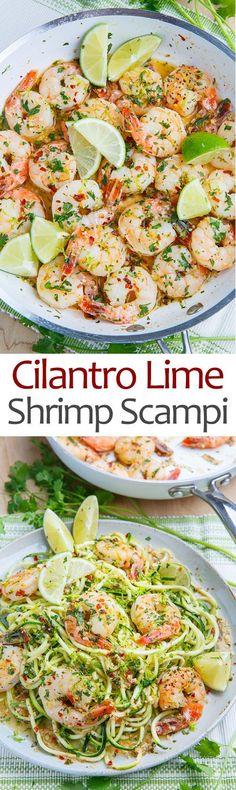 Cilantro Lime Shrimp Scampi                                                                                                                                                                                 More