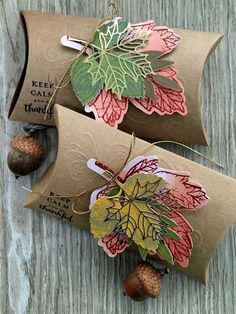 Stampin' Up! Paper Pumpkin September 2017 Layered Leaves