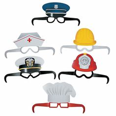 Let kids transform into their favorite community heroes with these adorable Community Helper Glasses! These paper glasses are perfect for pretend play or as . Community Helpers Lesson Plan, Community Helpers Crafts, Community Helpers Kindergarten, Montessori Activities, Kindergarten Activities, Preschool Activities, People Who Help Us, Jobs In Art, Math Concepts