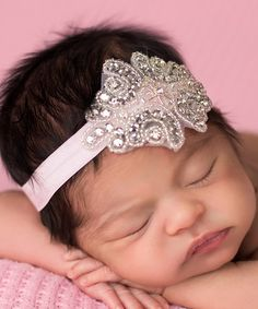 Love this Pink Couture Rhinestone Headband by The Tiny Blessings Boutique on #zulily! #zulilyfinds