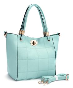 Look at this Fabulous Age Baby Green Square-Stitch Tote & Crossbody Bag on #zulily today!