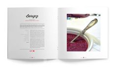 This is the book layout and cover design, as well as giftpackaging and bookmarks for Polska Kuchnia, aPolish recipe book written by Anna Pabian. Page Layout Design, Book Layout, Menu Design, Food Design, Recipe Book Design, Cookbook Design, Cookbook Ideas, Recipe Book Covers, Recipe Books
