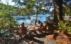 Tranquil base camp breakfast: Orca Dreams offers kayaking, whale watching and luxury camping on Compton Island, Blackney Pass, British Columbia Luxury Camping, Go Camping, Outdoor Camping, Camping Store, Discovery Island, West Coast Trail, Park Trails, Hiking Trails, New Background Images