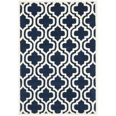 Safavieh Handmade Moroccan Chatham Dark Blue Wool Rug (4' x 6')   Overstock.com Shopping - Great Deals on Safavieh 3x5 - 4x6 Rugs
