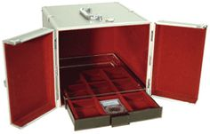 10 Tray Aluminum Coin Case for when you transport your coin collections. - www.CoinSupplyExpress.com