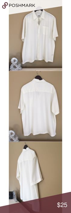 NWOT Los Angeles Men's button down This short sleeve men's button up is flowy and flattering for men!! Amazing soft. White. Brand new without tags. Never worn. LA Shirts Casual Button Down Shirts