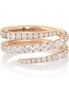 Anita Ko | Coil 18-karat rose gold diamond ring | NET-A-PORTER.COM