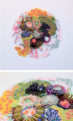 Contemporary embroidery | scientific art | hoop art | modern embroidery