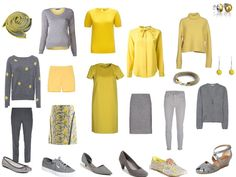 Chic Sightings: Grey and Yellow color palette for the capsule wardrobe