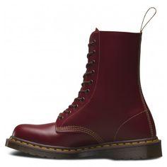 Dr Martens Unisex 1490 Oxblood (Vintage Made In England Range) 10 Eye Leather Boots