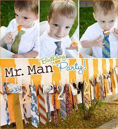 """Little Man"" birthday party"