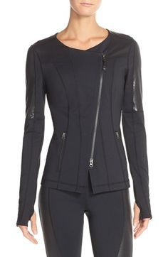 Zella 'Miliyah' Front Zip Jacket available at #Nordstrom
