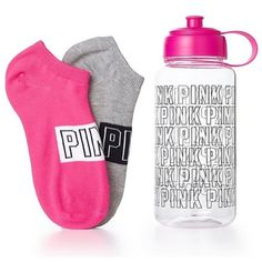 Vs Pink Water Bottle & Socks Both are brand new, with tags. Never used or worn. Socks are OS as well as the bottle. These are limited edition. Will not separate✨Price is firm✨ ❗️Please respect my prices as I don't go off leaving negative comments on other peoples listings regarding their prices❗️ ⚠️Also I do not trade, at all⚠️ People who judge my prices or leave negative comments will be blocked, no exceptions PINK Victoria's Secret Accessories Hosiery & Socks