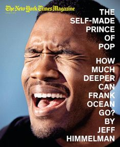 Frank Ocean covers The New York Times Magazine, February 2013.